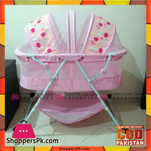 Baby Rocking Cradle Bed With Wheel