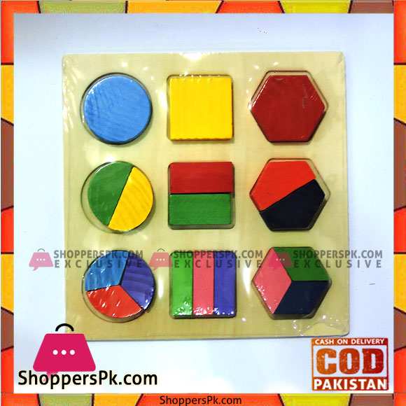 Buy Educational Wooden Fraction Shape Puzzle At Best Price In Pakistan