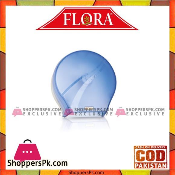 Flora Jumbo Toilet Paper Dispenser Blue