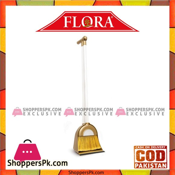Flosoft Dust Pan With Broom