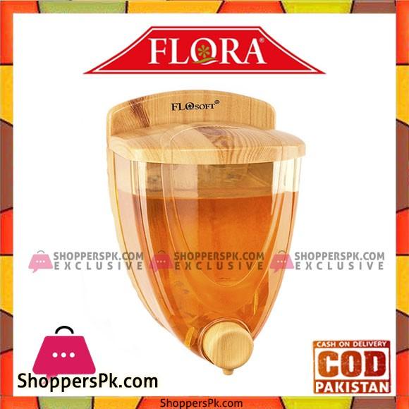 Flosoft Sıvı Sabunluk Ahsap Kaplamalı 650ml