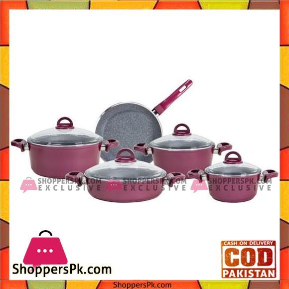 High Quality Falez Granitec Cookware Set 9 Piece