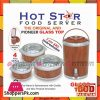 Happy Hot Food Server Glass Top 4 Pcs Gift Pack
