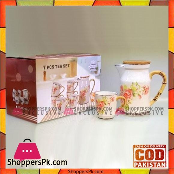 Imperial Collection Tea Set - Set of 7 - Ceramic Ware