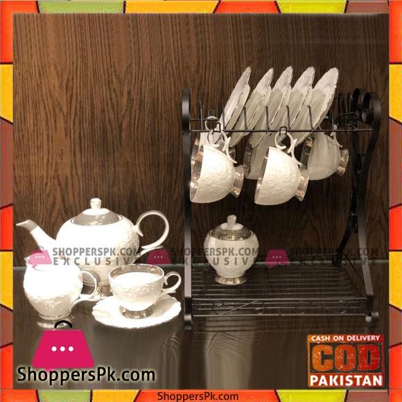 New Design Ceramic 16 pcs Tea Set with Stand