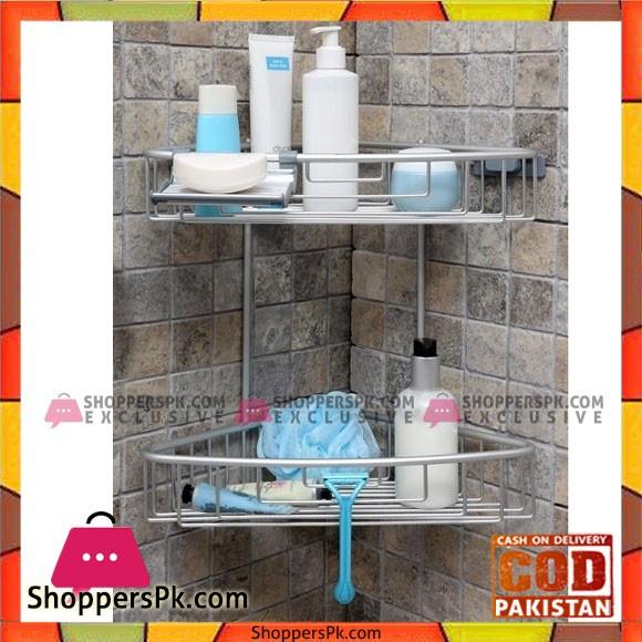 Primanova Paloma Aluminum Bathroom 2 Shelves Tukey Made M-N31-30