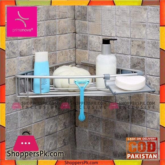 Primanova Paloma Aluminum Bathroom Shelves Single Turkey Made M-N30-30
