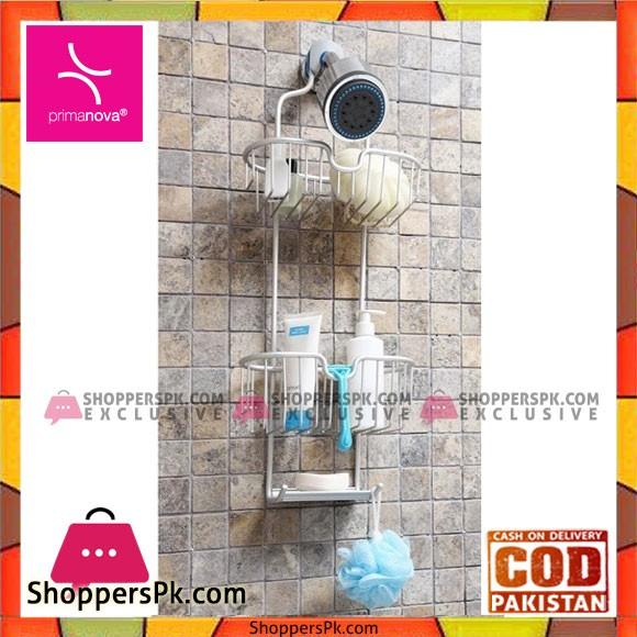 Primanova Paloma Aluminum Shower Basket 2 Piece Tukey Made M-N26-30