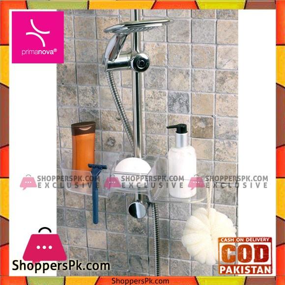 Primanova Shower Basket Drippy Transparent Turkey Made M-N23-16