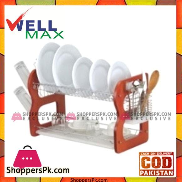 Wellmax Dish Rack Wooden - C1019-22