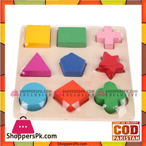 Wooden Fraction Shape Puzzle Toy For Montessori Early learning
