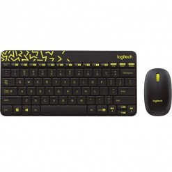 Logitech MK240 NANO Wireless Keyboard and Mouse Combo (Black/Chartreuse Yellow) 920-008202