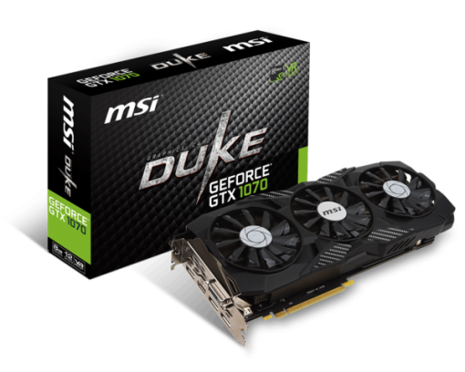 MSI Nvidia GTX 1070