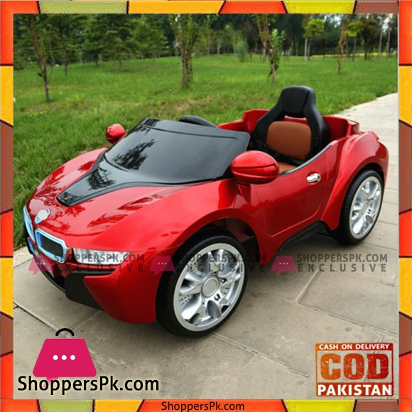 BMW i8 Kids Electric Ride on R/c Car with Mp4 Touch Screen Painted Red