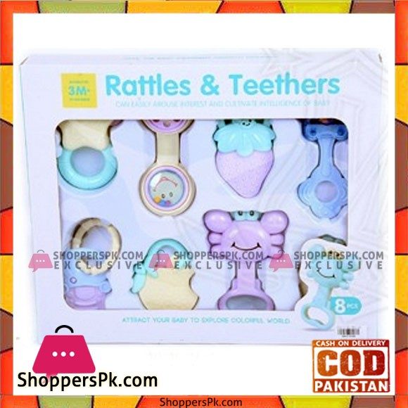 Baby Rattle and Teether 8 Pcs