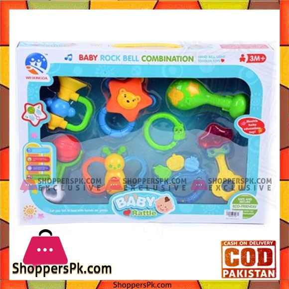 Baby Rock Bell Combination Baby Rattle