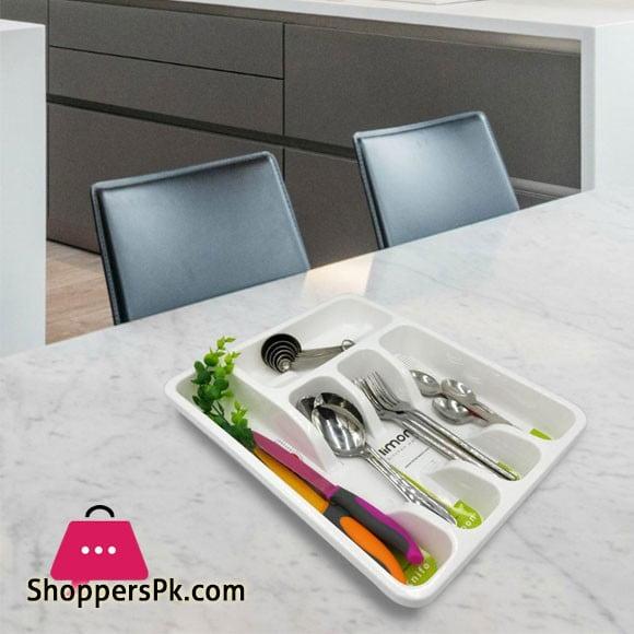 Basic Plastic Cutlery Tray 35x27.5cm