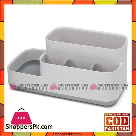 Bathroom Easy-Store Caddy- White/Grey