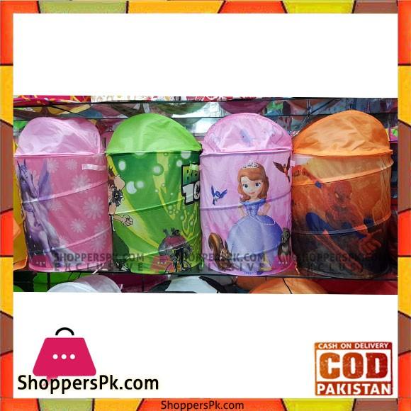 Collapsible Kids Laundry Hamper Pop Up Portable Children's Clothes Basket - 1 Pcs