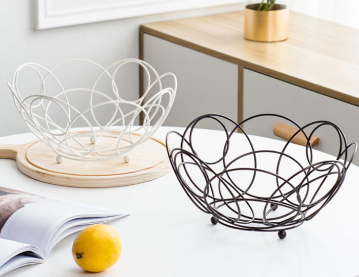 Creative Simple Ironwork Fruit Basket Drained Vegetable Basket