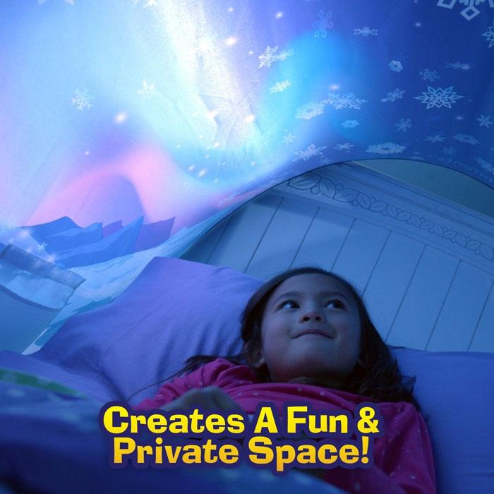 DreamTents Kids Pop Up Bed Tent Playhouse - Twin Size Winter Wonderland