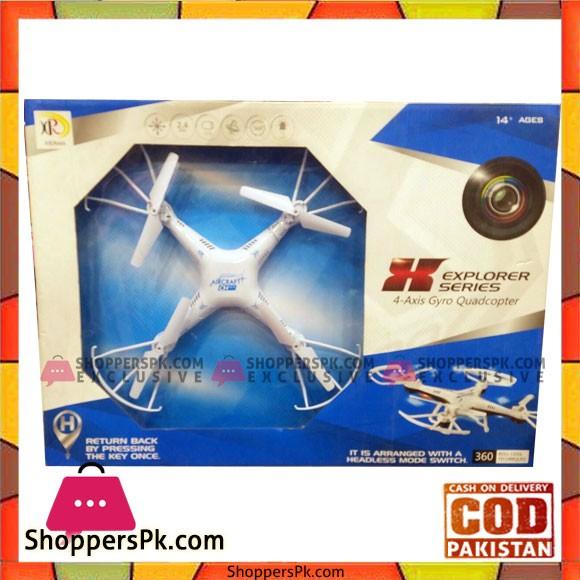Explorer Series 4-Axis Gyro Quadcopter Live Camra