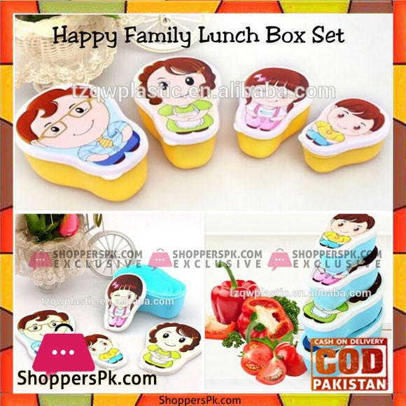 Happy Family Lunch Box Set of 4