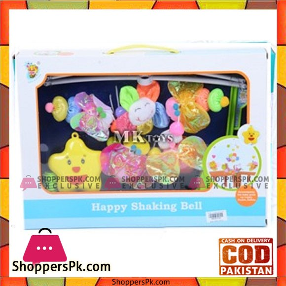 Happy Shaking Bell Cot Mobile 4475