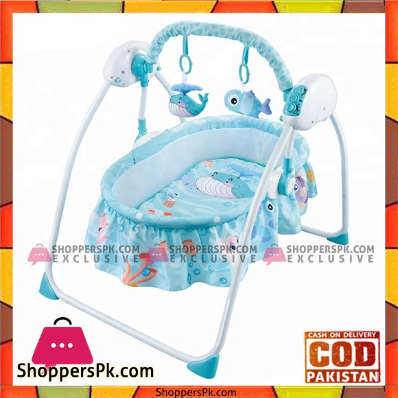 Intelligent Remote Control Crib Foldling Baby Swing Bed - HN821397