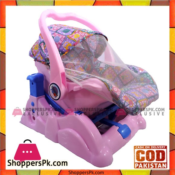 Mama Love Baby Swing+Carry Cot Pink