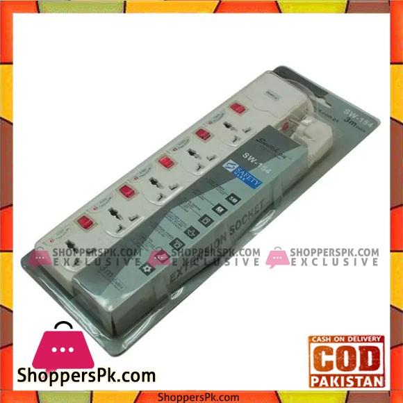 Switch on Sw-154 - Extension Socket - 2500Watt