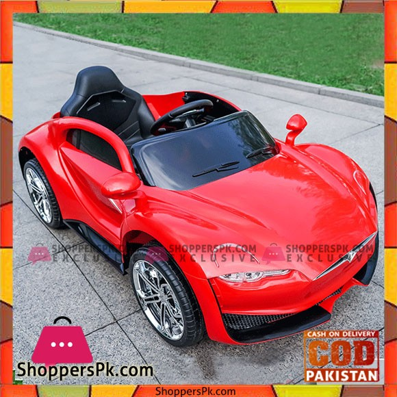 Tesla Model S Kids Ride on Car 12V With Swing and Microphone with Remote Control