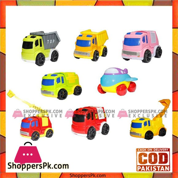 Urban Transport Set of 8 Construction and Public Service Vehicles (Multicolor)