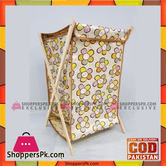 Wooden Fabric Laundery Basket