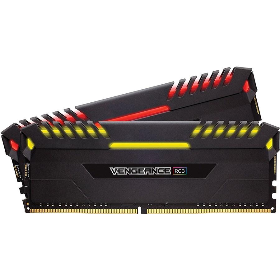 Corsair Vengeance RGB 16GB (2x8GB) DDR4 3200 C16 Desktop Memory (Black, CMR16GX4M2C3200C16)