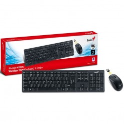 Genius SlimStar 8000ME 10m 2.4GHz Wireless Keyboard & Mouse Combo