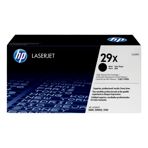 HP 29X High Yield Black Original LaserJet Toner Cartridge, C4129X