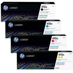HP Complete HP Color Toner Set - 410A, Black, Cyan, Yellow & Magenta