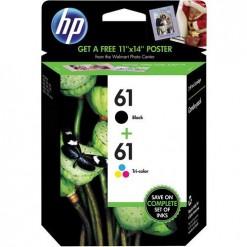 HP 61 Combo-pack Black/Tri-color Ink Cartridges