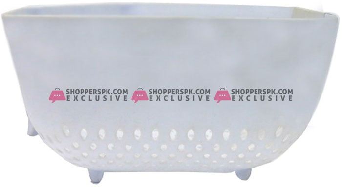 Alaca Vegetable and Rice Strainer Bowl White 3 Ltr