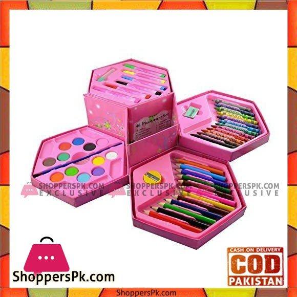 Art Set School Color Kit 46 Pcs Of Art Set