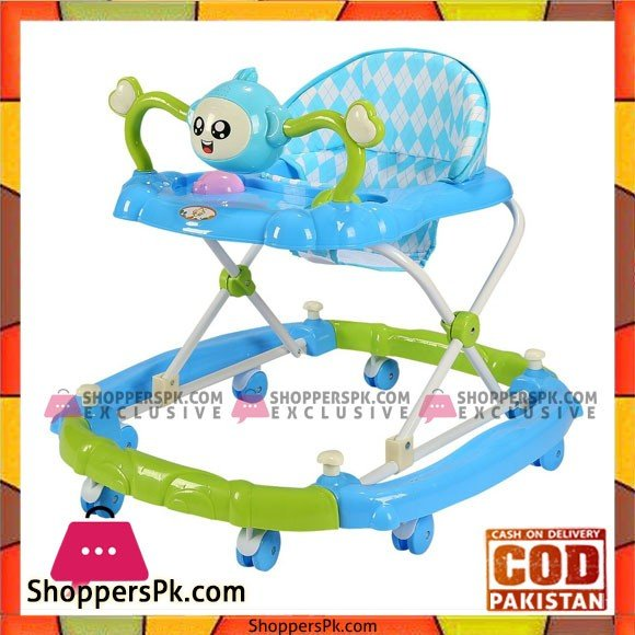 Baby Walker Multi-Function Anti-Rollover Baby Walker with Toy Music Heights Can Be Adjusted Suitable for 6-18 Months