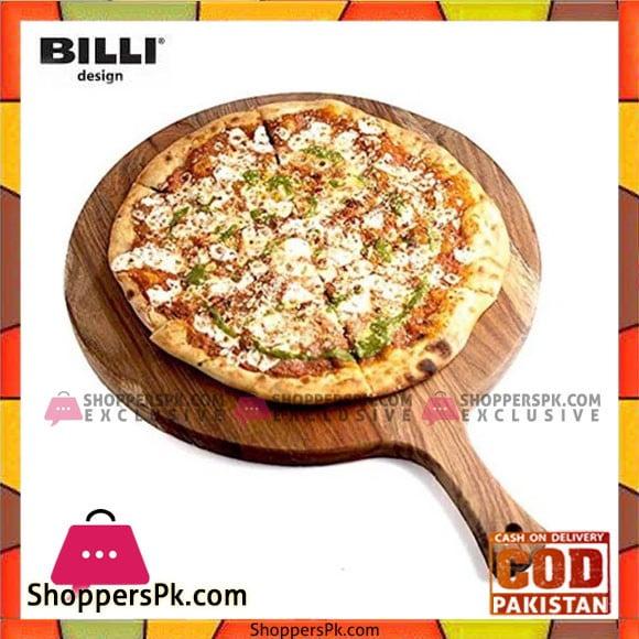 Billi Round Paddle Pizza Board (Large) WAPIZ-NW Thailand Made