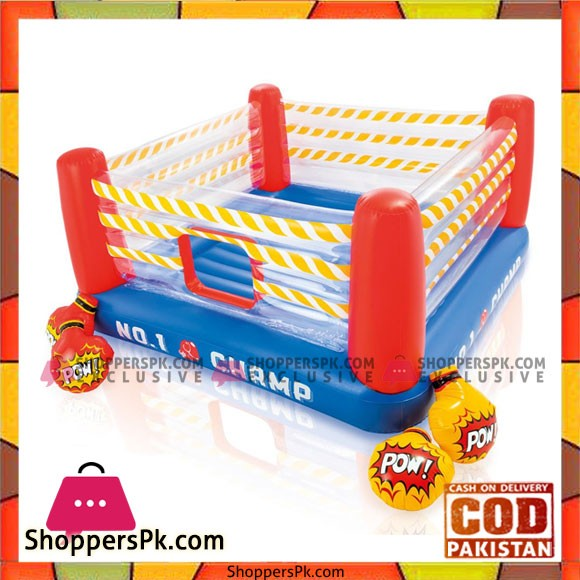 Jump-O-Lene Intex 48250 Inflatable Ring for the Fun of Your Children with 2 Pairs of Air Gloves Included
