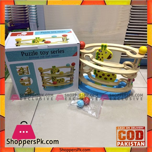 Puzzle Toy Series Animal Roll Ball Tower