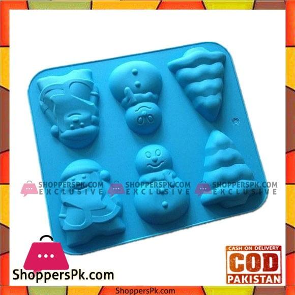 SPK Silicone Christmas Theme Cupcake Mold 6 Cavity