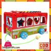 Wooden Digital Shape Bus Xylophone Car