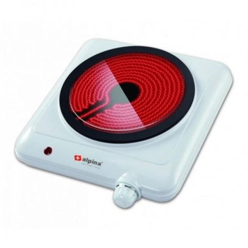 Alpina Sf-6005 Glasstop Single Ceramic Hot Plate With Official Warranty