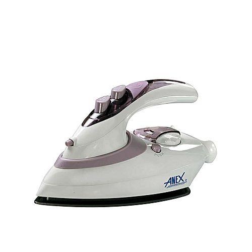 Anex AG-1074 Travel Iron White (Brand Warranty)
