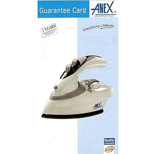 Anex Anex AG-1074 Travel Iron White